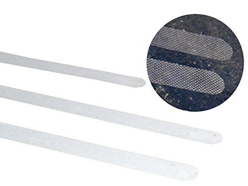 Anti-Rutsch Streifen für Treppen, Duschen & Badewannen 45cm x 2cm -K&B Vertrieb- transparent selbstklebend 020 (60 Stück)