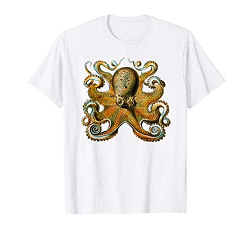 Tintenfisch by Ernst Haeckel Vintage Octopus Illustration T-Shirt