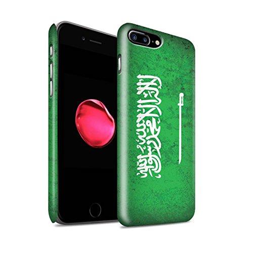 STUFF4 Matte Snap-On Hülle / Case für Apple iPhone 8 Plus / Kuwait Muster / Asien Flagge Kollektion Saudi Arabien/Arabisch