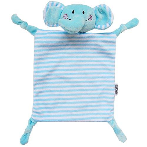 YeahiBaby Doudou bebé Peluche Mantitas de arrullo Manta de seguridad (Elefante Azul)
