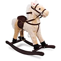 """small foot 4101 Rocking horse """"Shaggy"""", made of wood and fabric, with sound effects (galloping sound and neighing), from 3 years old"""
