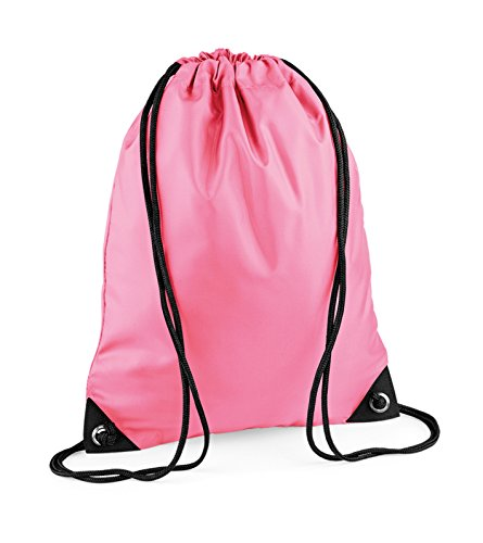 Turnbeutel bestickt mit Ihrem Wunschnamen / Wunschtext true pink