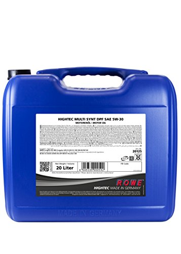 ROWE Hightec Multi Synt DPF 5W-30 PKW Motoröl vollsynthetisch (HC-Synthese), Made in Germany, 20...