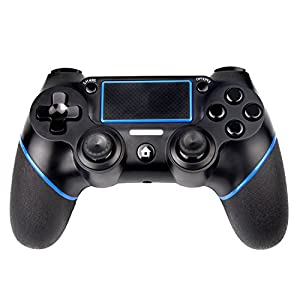 Sades PS4 Controller C200 Wireless Controller Gamepad mit doppelter Vibration und 3,5-mm-Klinke für Playstation 4