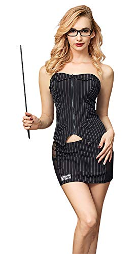 Komplettes Outfit Damen Gute Qualität 5 Stück Reizvolle Lehrer/Sekretär Kostüm Größe - Kostüm Für Lehrer