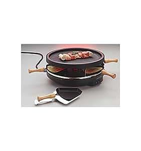 Appareil à raclette cervin à 6 poêlons avec gril