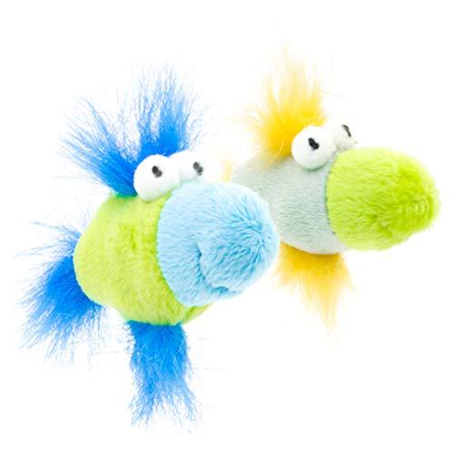 leo.toys Katzenspielzeug 2er Set Plüschspielzeug Fisch mit Katzenminze und  Rassel ce3efc15cb6
