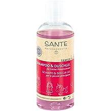 SANTE Naturkosmetik Family Kids Shampoo & Duschgel Prinzessinnen, Speziell für Kinder, Pflegt die Haut, Reinigt sanft, Vegan, 2x200ml Doppelpack