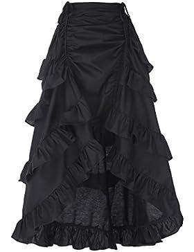 Belle Poque Gothic Steampunk Vintage Vintage Algodón Faldas Gitana Hippie GF222