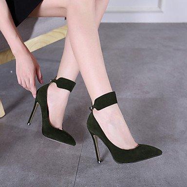 Moda Donna Sandali Sexy donna tacchi Primavera / Estate / Autunno / Inverno Comfort Casual Stiletto Heel fibbia nero / verde a piedi Black