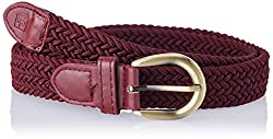 Lino Perros Red Polyester Womens Belt (LWBE00378-38RED)