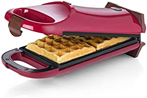 Giles & Posner EK2067 Electric Flip Over Waffle Maker for Fun Cooking, 700 W