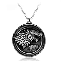 Stark family necklace of game of thrones