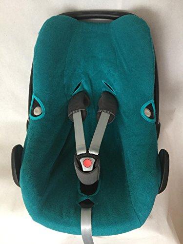Preisvergleich Produktbild Sommerbezug Schonbezug Frottee für Maxi-cosi Pebble und Pebble plus Frottee 100% Baumwolle petrol