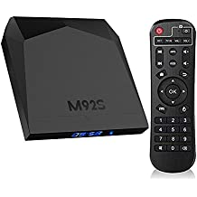 M92S SoCs Pro 4K ANDROID 7.1 TV Box Amlogic S912 High-end UHD HDR Multi-Media TV Estuche 2G RAM + 16GB eMMC Bluetooth 4.0 Real Octa-Core WIFI inalámbrico 2.4GHz / 5GHz / BT Dos puertos USB 2.0 Aceleración de gráficos 3D