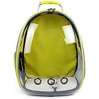 Pet Cat Dog Puppy Carrier Bolsa de Viaje Espacio Cápsula Mochila Transparente Transpirable 360 ° Turismo (Color : B)