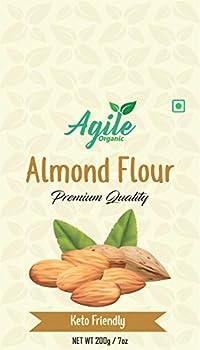 Agile Organic Fine Almond Flour, 200g (Gluten Free)