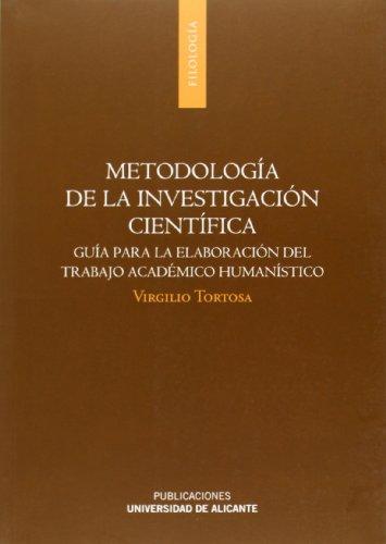 Metodología de la investigación científica (Monografías) por Virgilio Tortosa