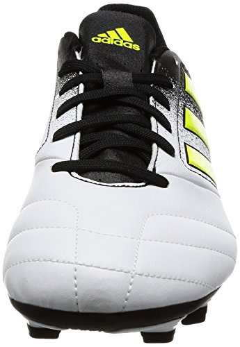 adidas Ace 17.4 Fxg, Chaussures de Football Homme Blanc (Footwear White/Solar Yellow/Core Black)