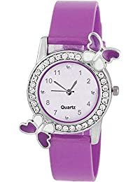 Sale Crowd Purple Watch With Butterfly Dial For Girls | Watch For Girls Beautiful Watch | Attractive Look With...