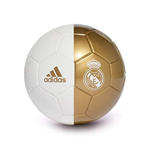 Adidas Mini Real Madrid 2019-2020, Balón, White-Dark Football Gold