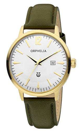 Orphelia Herren-Armbanduhr Zoom Analog Quarz Leder