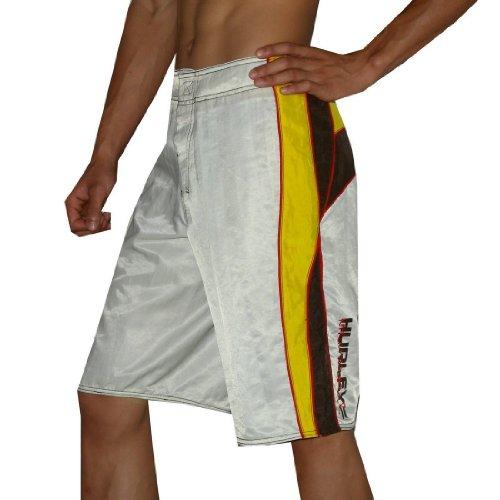 Hurley Envy Herren Skate & Surf BoardShorts Größe 28 Weiß (Hurley-t-shirt Shorts)