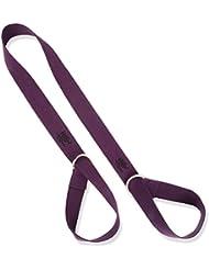 Multicolor Yoga Mat Sling correa de transporte y elástico correa ajustable Pilates Mat–Correa de sujeción, morado