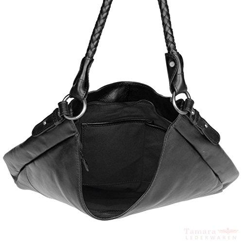 Gräschen Pur&Abenteuerlustig Fräulein Emma Sac Fourre-tout Shopper cuir 46 cm noir
