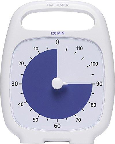 Time Timer 0040232533921 PLUS Zeitmesser, 120 Minuten, Weiß