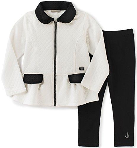 Calvin Klein Knit Pants (Calvin Klein Girls' Double Knit Jacket with Leggings Set)