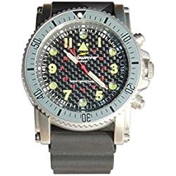Ledwave Night Eyes II SS Reloj Táctico LED con Cápsulas de Tritium de Caza, Unisex Adulto, Negro, Talla Única