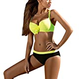 Yvelands Damen Mode Bikini BH Badeanzug Bowknot Bademode Beachwear Off-Shoulder Bikini