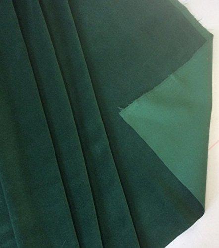 Comprar barato bottle green colour cotton dressmaking velvet fabric per metre ralston fabrics