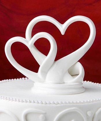 Cœurs entrelacés POUR gâteau de mariage en