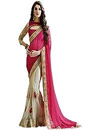 Tiana Creation Net Saree (Subhlaxmi_Pink_Pink)