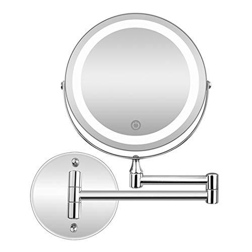 LEDHZJYLW Led Kosmetikspiegel Wandmontage Badezimmerspiegel Led Kosmetikspiegel 1X 5X Vergrößerung...