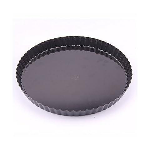 Keysui Bakerware Non-Stick 10 Inch Removable Loose Bottom Quiche Pan Homemade Round Tart Pie Cake Mold Baking Pan 26cm