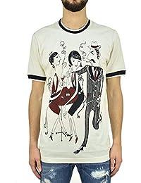 Dolce   Gabbana T-Shirt Trio Uomo - Taglia  44 - Colore  Beige 5c2699722a1