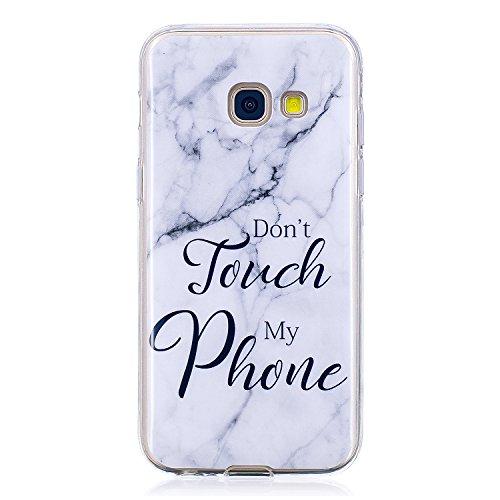 Samsung Galaxy A3 2017 Hülle, Marmor Serie Flexible TPU Silikon Schutz Handy Hülle Handytasche HandyHülle Etui Schale Case Cover Tasche Schutzhülle für Galaxy A5 2017 (Samsung Galaxy A5 2017, 9)