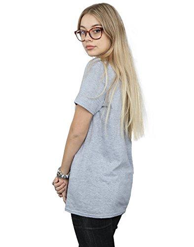 Absolute Cult Avengers Femme Infinity War Hulkbuster Blueprint Petit Ami Fit T-Shirt Sport Gris