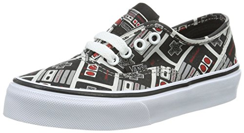 Vans Unisex-Kinder Authentic Low-Top, Mehrfarbig ((Nintendo) Controller/True White), 28 EU (Retro-lifestyle-schuhe)