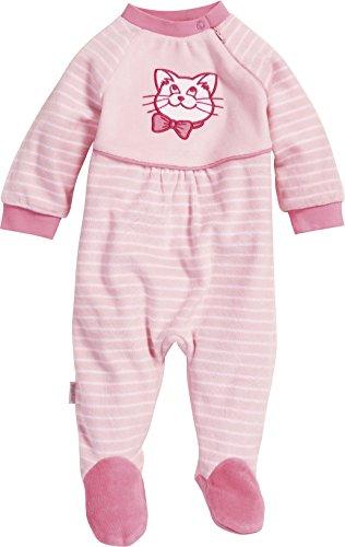 Playshoes Baby - Mädchen Schlafstrampler Schlafanzug Schlafoverall Nicki Katze, Gr. 86, Rosa (original 900)