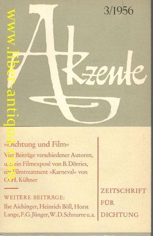 Akzente, Zeitschrift für Dichtung, Heft 3 Juni 1956 (1956 Zeitschrift)