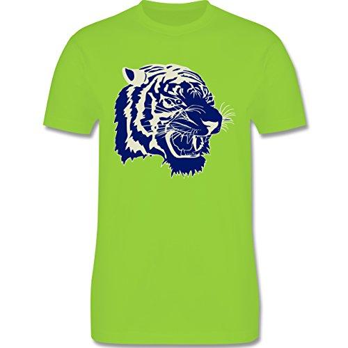 Wildnis - Tigerkopf - Herren Premium T-Shirt Hellgrün