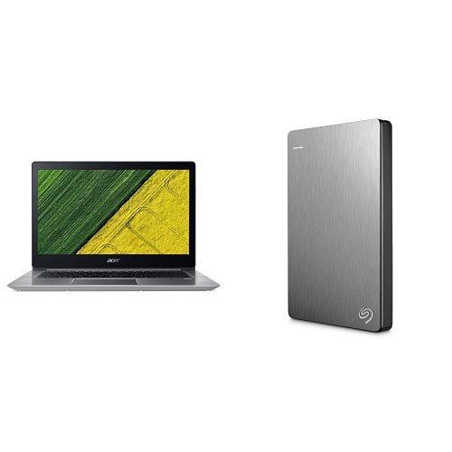 Acer Swift 3 Ultrabook 14-Inch Notebook (Intel Core i5-8250U, 8 GB RAM, 256 GB SSD, NVIDIA GeForce MX150, Windows 10 Home) + 2TB Seagate Backup Plus Slim External Hard Drive