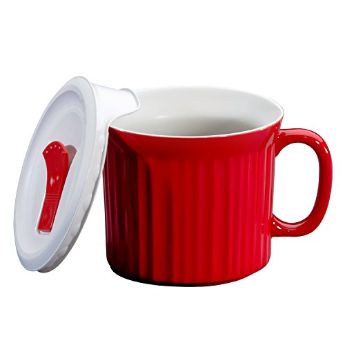 Corningware-becher (World Kitchen 1105118 Klauenhammer, rot pop in in Tasse)