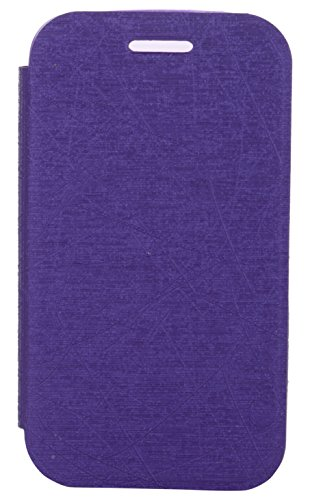 iCandy™ Soft TPU Non Slip Back Shell PU Leather Hybrid Flip Cover For Samsung Galaxy Star Advance G350E - PURPLE  available at amazon for Rs.195