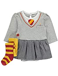 f315ea17dd6 George Harry Potter Wizard Hermione Baby Babies Bodysuit   Tights Outfit  Grey