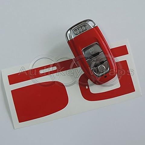 Rot glänzend Schlüssel Wrap Cover Audi Smart-Fernbedienung A1A3A4A5A6A8TT Q35Q7